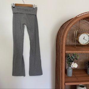 "Aerie Fold Over ""No Sweat"" Yoga Pants Gray"